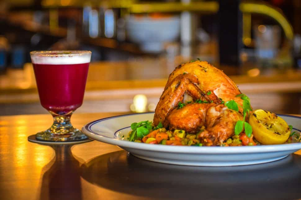 The Ordinarie's roasted chicken with sweet potato succotash. Photo by Brian Addison.