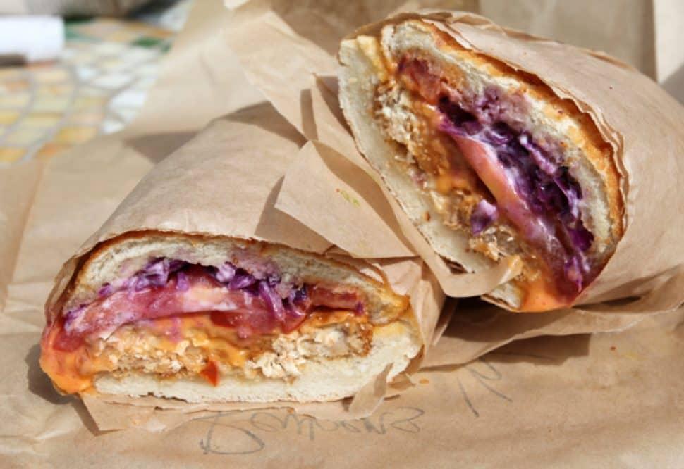 Ike's vegan reuben sandwich.