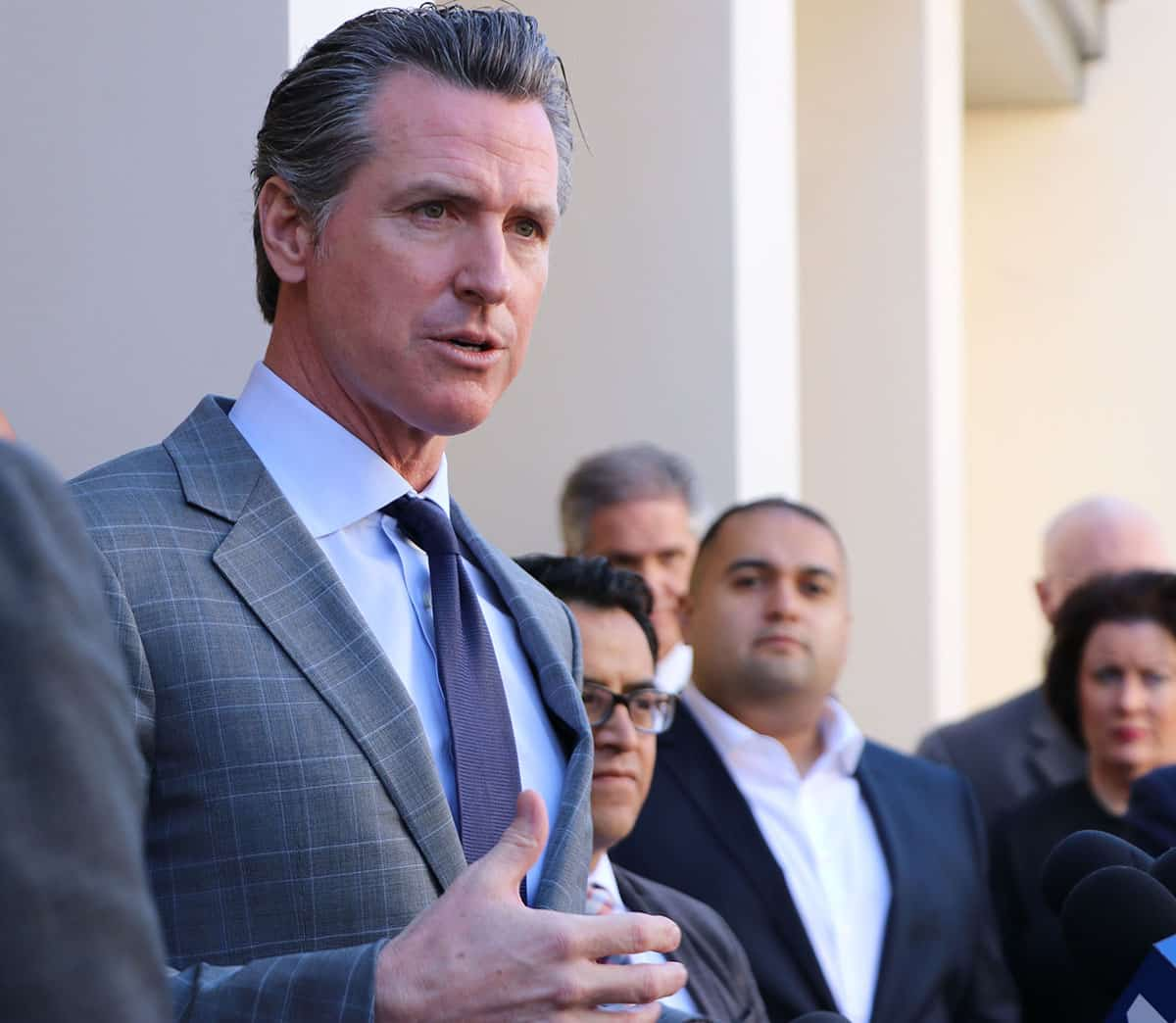 California governor accuses Trump of retribution