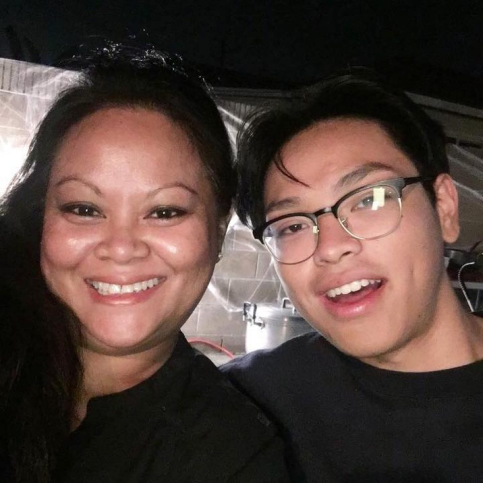 Gelinda Keo and her son Landis Lim in an October 2016 photo. Courtesy Gelinda Keo.