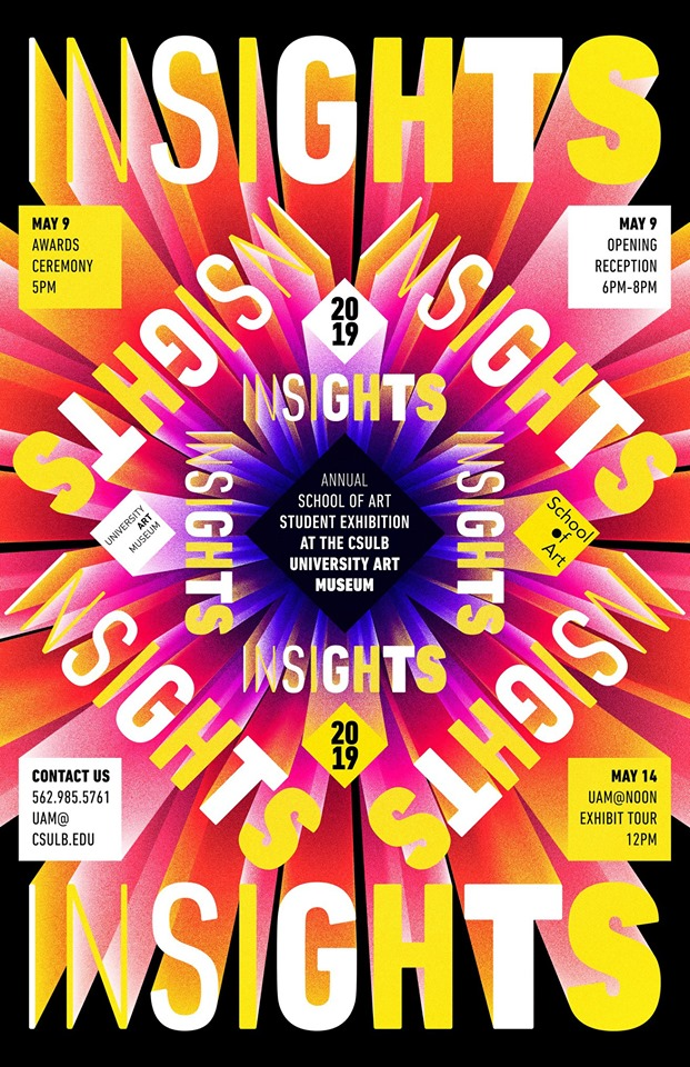 INSIGHTS 2019 graphic by Jonathan Lugo Torres. Courtesy University Art Museum.
