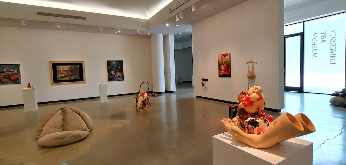 Installation view of INSIGHTS 2019. Courtesy University Art Museum.