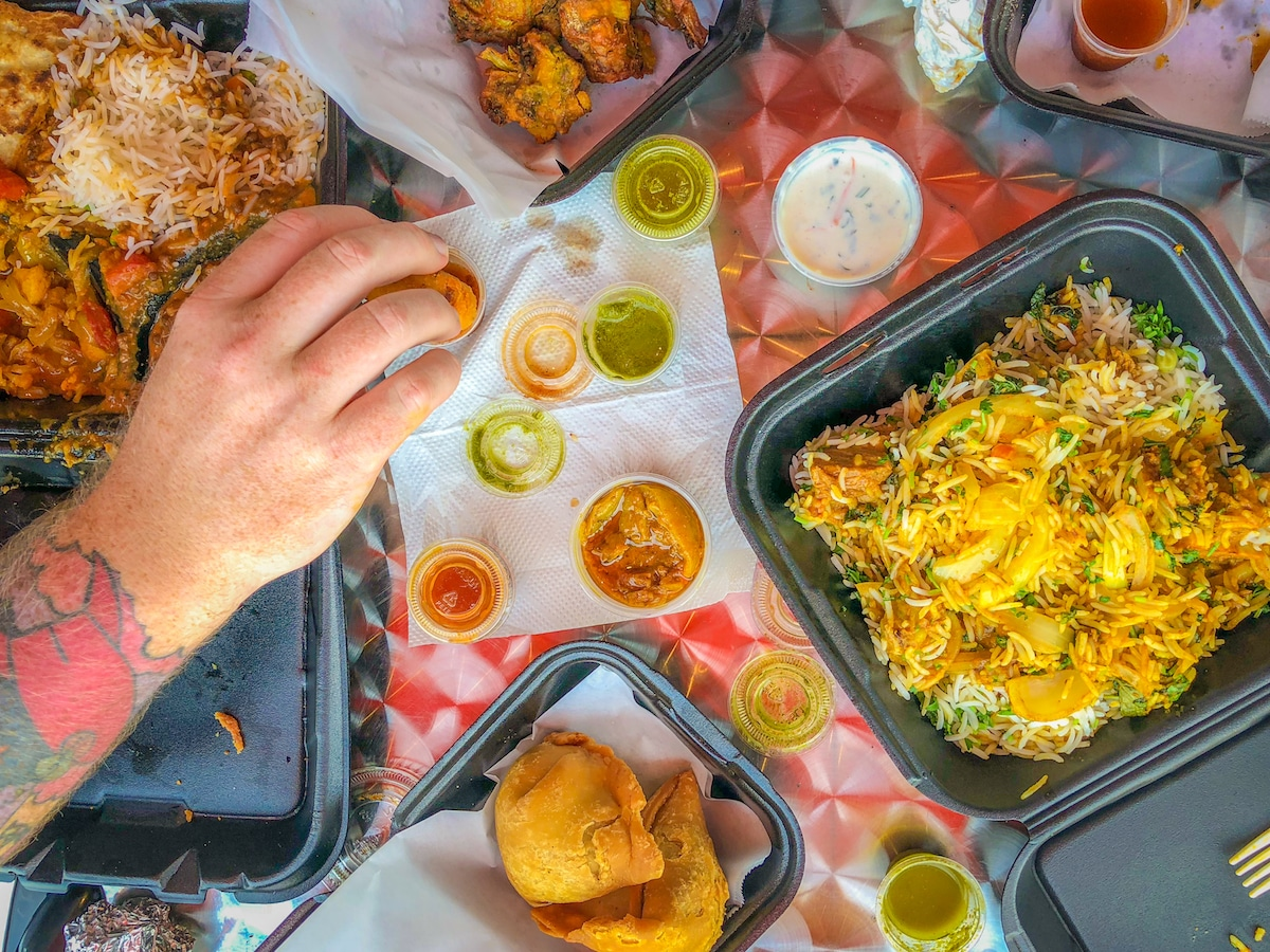 Flamin' Curry's variety of Indian cuisine offerings is both quick and quality-driven. Photo by Brian Addison.