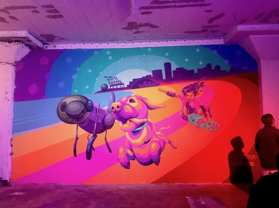 Mural by Joey Stupor and Bodeck Hernandez at the  Ice House Arts Complex during ICON LBC on Friday, June 7. Photo by Asia Morris.